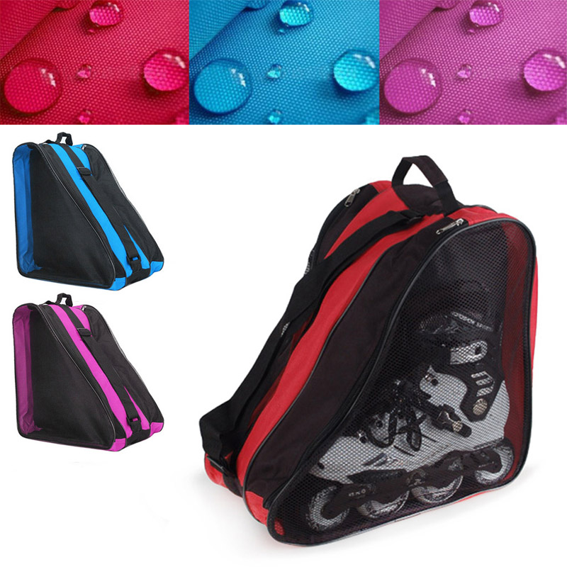 Newly Ice Skate Roller Blading Carry Bag With Shoulder Strap For Kids Adults 19ing