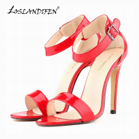 Summer Open Toe Ankle Straps Sandals WOMEN SHOES FAUX SUEDE HIGH HEELS PEEP TOE SANDAL PARTY
