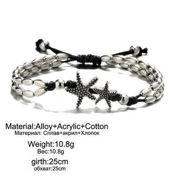 Vintage Bracelet Foot Jewelry Retro Anklet For Women Girls Ankle Leg Chain Charm Starfish Beads Bracelet Beach Jewelry 041 5