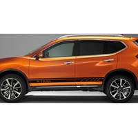 free shipping 2 PC racing Gradient side stripe graphic Vinyl car sticker for NISSAN X TRAIL accessories decal