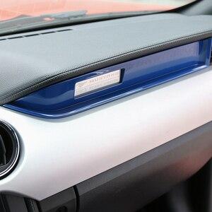 Image 3 - MOPAI Innenraum Form Copilot Sitz Dashboard Dekoration Streifen Trim ABS Aufkleber Für Ford Mustang 2015 Up Auto Styling