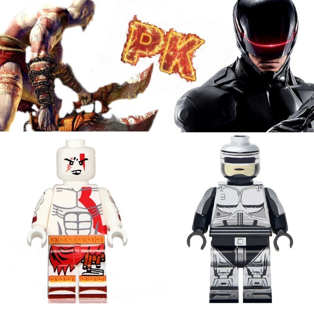 Model Building Punctual 2 Pcs/lot Ghost Of Sparta Kratos Robocop Horror Friday The 13th Jason Voorhees Legoings Building Blocks Toys Gifts For Children Quell Summer Thirst