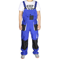 Aolamegs Bib Overalls Men Large Size Blue Work Coveralls Locomotive Strap Jumpsuit Pants Sleeveless Overalls Big
