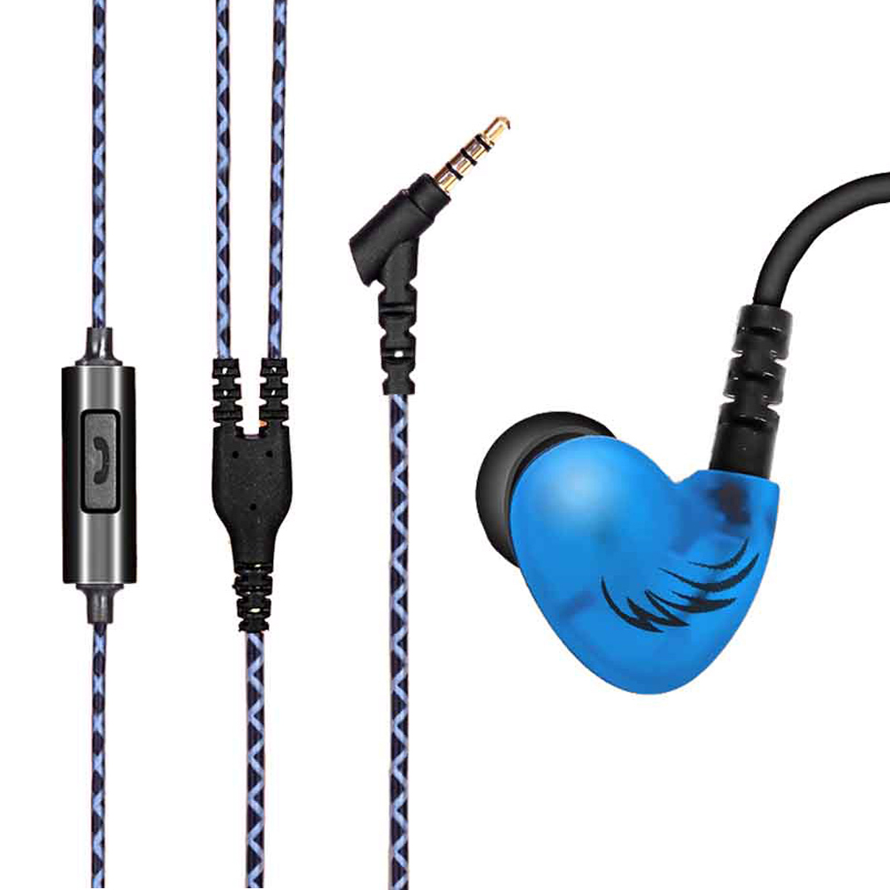 Sport Running In Ear Earphone with Mic Super Bass Headphone Waterproof Noise cancelling Music Earphones for Xiaomi iPhone Mp3