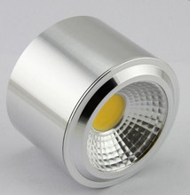 Free Shipping 12W Surface Mounted Dimmable LED Downlight COB LED plafon Spotlight Ceiling Spot Light Lamp LED Down Lights