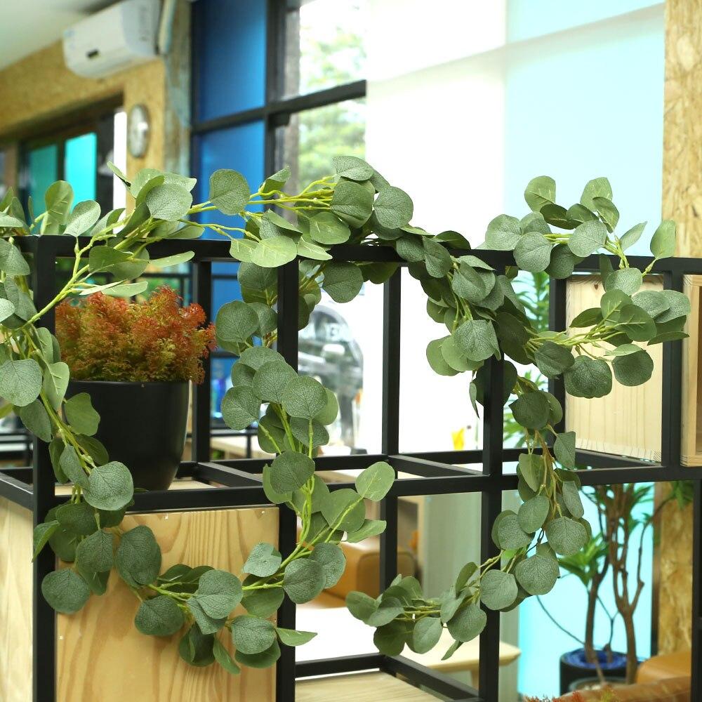 2 м искусственное растение искусственное InsRattan Мода Имитация эвкалипта реквизит для фото вечеринок романтические Висячие декорации вечерние Декор