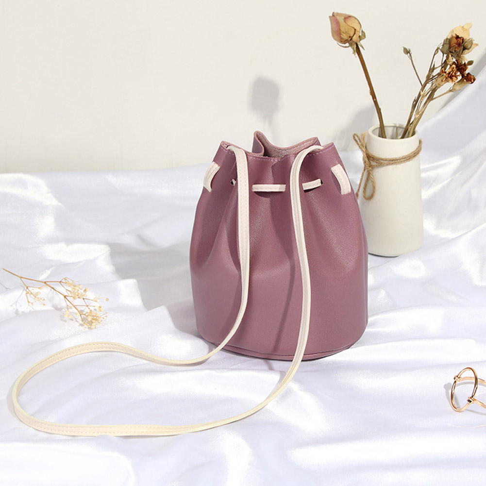 Tassel Shoulder Bags PU Leather Woman Crossbody Bags Summer Drawstring Female Bag NewTassel Shoulder Bags PU Leather Woman Crossbody Bags Summer Drawstring Female Bag New