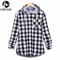 2016 Fashion men Hoodies Cotton Spring Autumn Long Sleeve Plaid cotton Hoodies HIP HOP KANYE button Sweatshirts