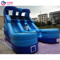 7*5*5.2m slide inflatable jumping bouncer for water game manufacturer selling inflatable bouncer slide for kids and adults