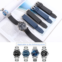 21MM Silicone WatchBand For Hydro Conquest Conquest L3 41mm 43mm Dial Watch for Explorer2 Wrist Watch Strap Band Bracelet Rubber