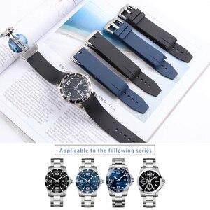 Image 1 - Bracelet de montre en Silicone 21MM, pour Hydro conquête L3 41mm 43mm, cadran pour Explorer2, Bracelet en caoutchouc