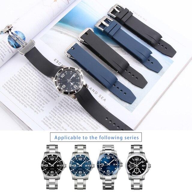 Bracelet de montre en Silicone 21MM, pour Hydro conquête L3 41mm 43mm, cadran pour Explorer2, Bracelet en caoutchouc