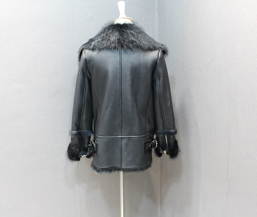 women natural leather and fur winter jacket warm (12)