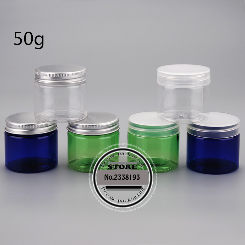 50g X 50 round empty Plastic Cream mask PET bottles jars containers for cosmetic packaging skin