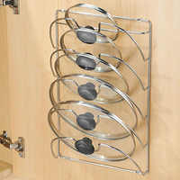 Pan Lid Storage Rack Wall Mount Pot Cover Organizer Holder Kitchen Accessories TN88