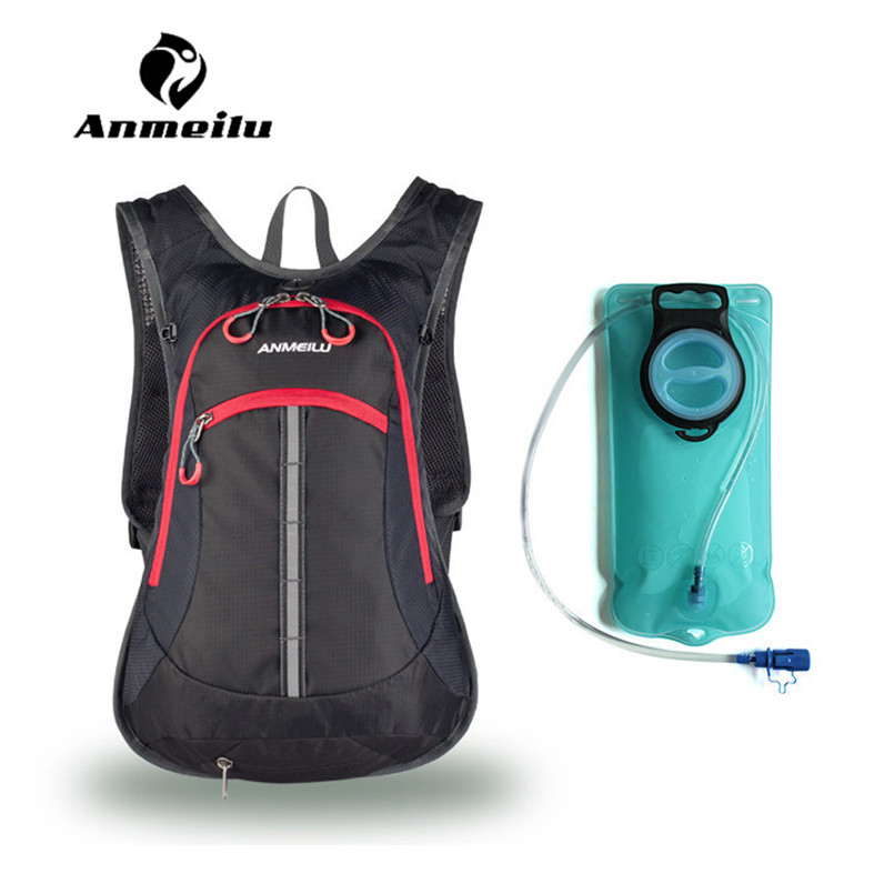 ANMEILU 2L Water Bag 15L Camping Hiking Travel Cycling Bladder Hydration Backpack Sport Bicycle Camelback Women Men Mochila 3l tactical water bottle bag knapsack hydration backpack pouch hiking camping cycling pack canteen water bag molle