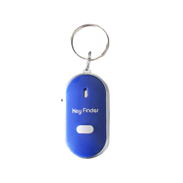 New 1pc Whistle LED Light Torch Remote Sound Control Lost Key Finder Locator Remote Keychain Keyring With Whistle Claps 3