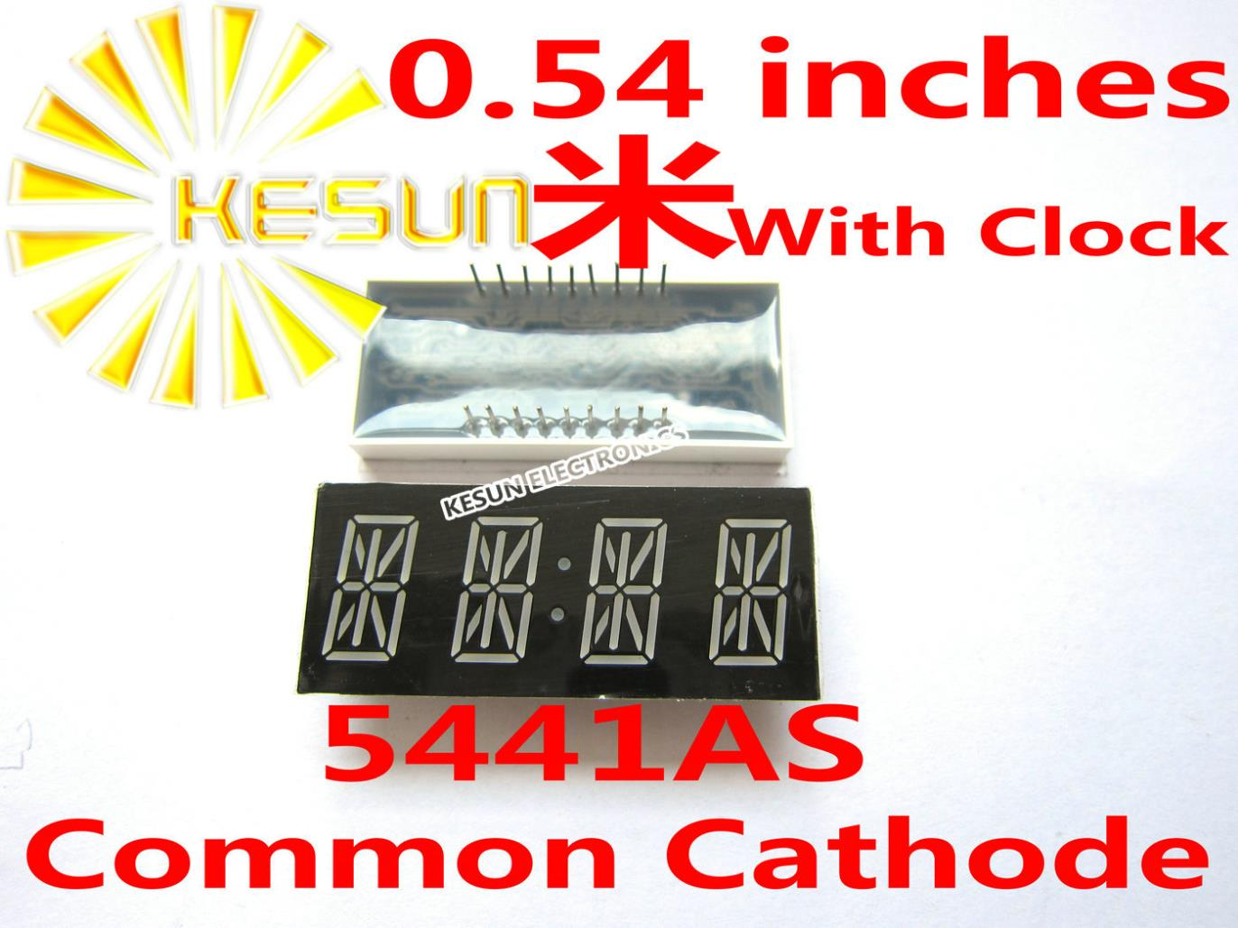 FREE SHIPPING 10PCS X 0.54 Inches Red Common Cathode/Anode 4 Digital Tube With Clock 5441AS 5441BS LED Display Module