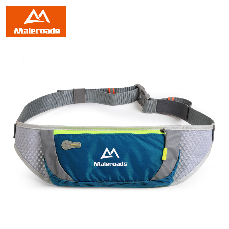 Maleroads Waterproof Running Waist Bags Utility Gym Fanny Pack Sport Fitness Jogging Belt Bags Cell Phone Pocket For Men Women