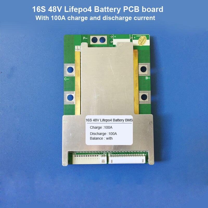16 S 48 V Lifepo4 Batterie Bms Und 58,4 V Oder 57,6 V Lifepo4 Elektrische Roller Batterie Pcb Für Weniger Als 2500 Watt Motor
