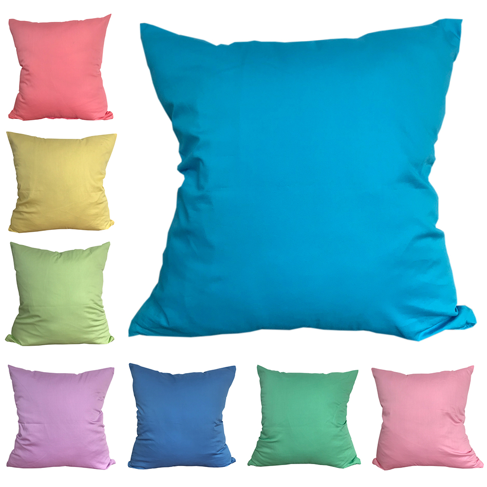CURCYA Solid Colors Cushion Covers Thin 100% Pure Cotton Bed Pillowcases Christmas Living Room Decorative Throw Pillows Covers