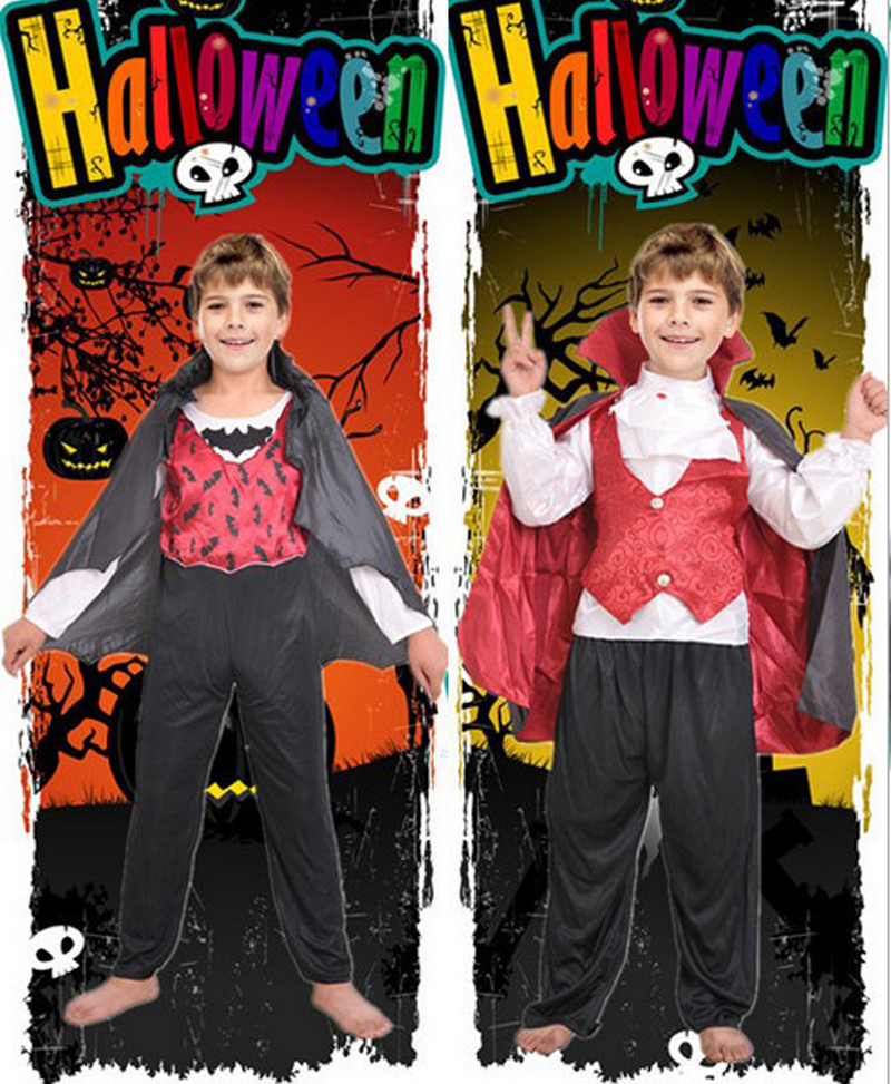 51ba1772e9903 US $19.85 5% OFF|Free shipping,halloween party dress up costume children  kid prince king Scary bat Vampire Cosplay costume clothes cape-in Boys ...