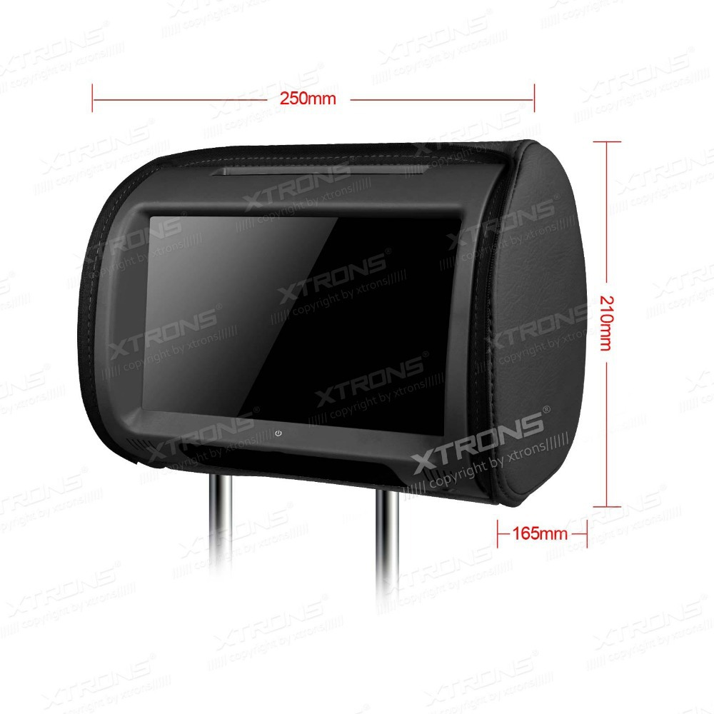 Aliexpress com buy xtrons monitors black car headrest dvd player 9 hd touch screen zipper car stereo audio with sd usb dvd ir fm transmitter from reliable