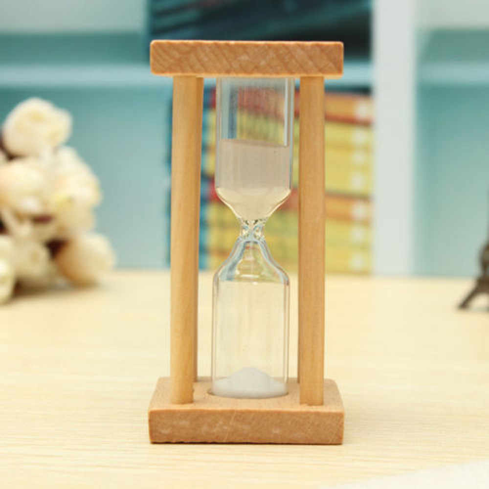 Dropshipping reloj de arena de 1/3/5 Min reloj de arena de madera de cristal de arena reloj de arena accesorios de cocina