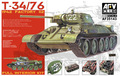 Afv clube 35143 1/35 T-34 / 76 1942 fábrica 112 completa INTERIOR KIT