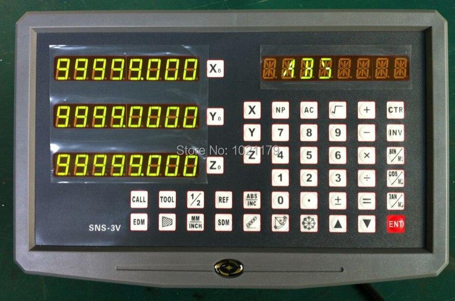 O envio gratuito de máquina de trituração do eixo dro leitura digital escala linear e 3 kit com peças 0 3-1000 digital escalas de vidro linear