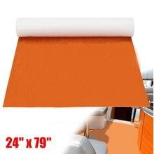 Self Adhesive EVA Foam Teak DIY Marine Flooring Boat Decking Teak Sheet Yacht Floor Pad Foam Floor Mat Orange 60CMx200CM 6mm