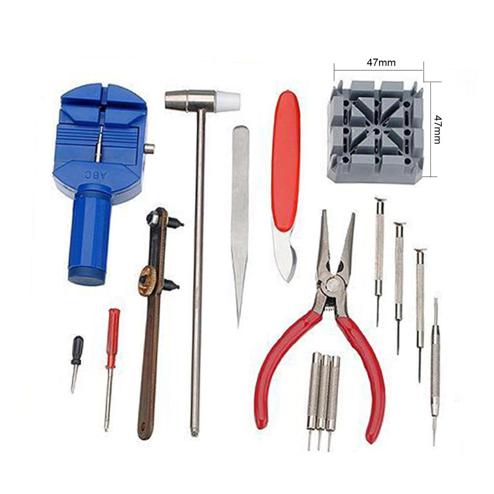 16pcs/set Professional Watch Repair Tool Kit Watch Band Holder Case Opener Band Link Pin Remover Watchmaker Tool Set New цена 2017