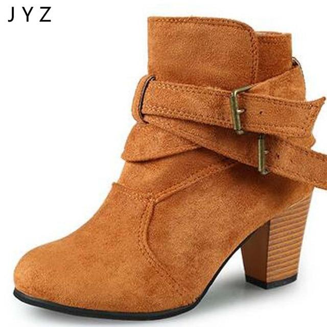 965e70b9 Para mujer Botines Casual zapatos de Tacón Alto 7 cm Abrochado Tobillo  Patea Los Zapatos de