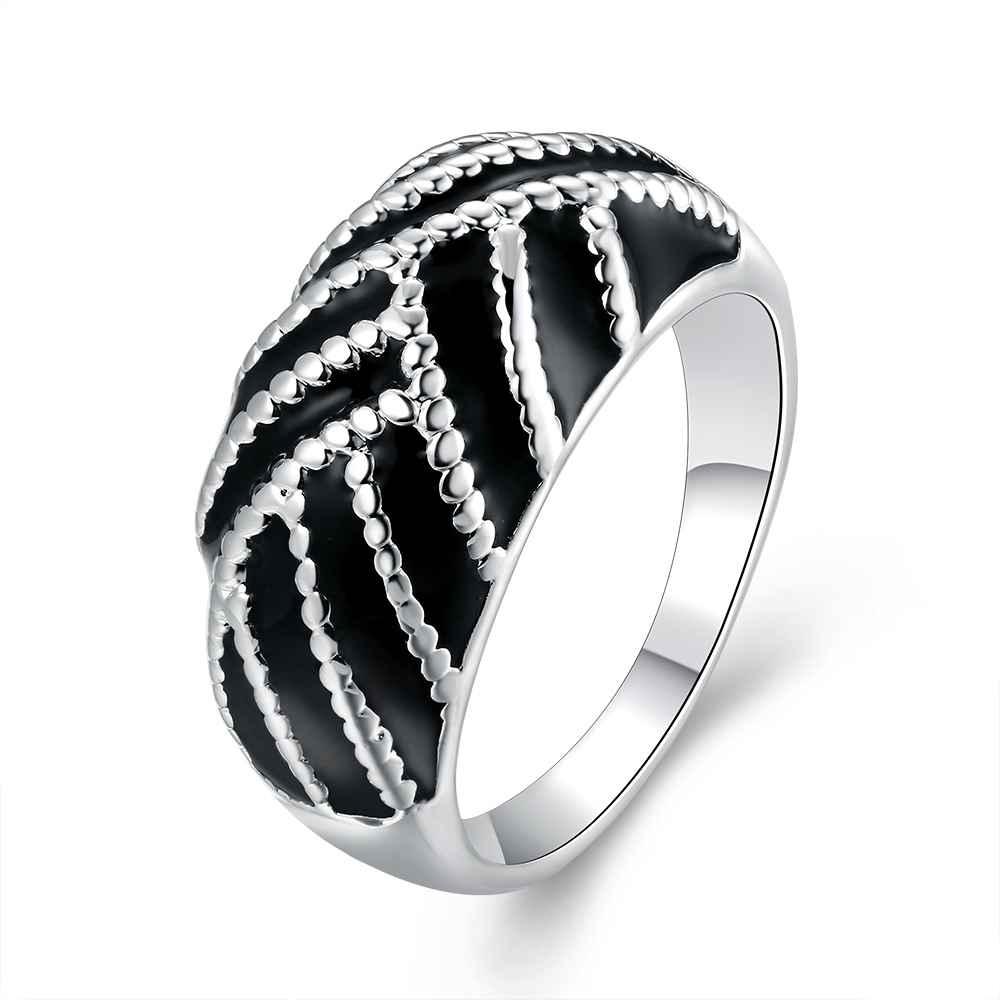 Free Shipping New Sale Silver Plated Engagement Ring Paint Oval Ring Men  Jewelry Display(china