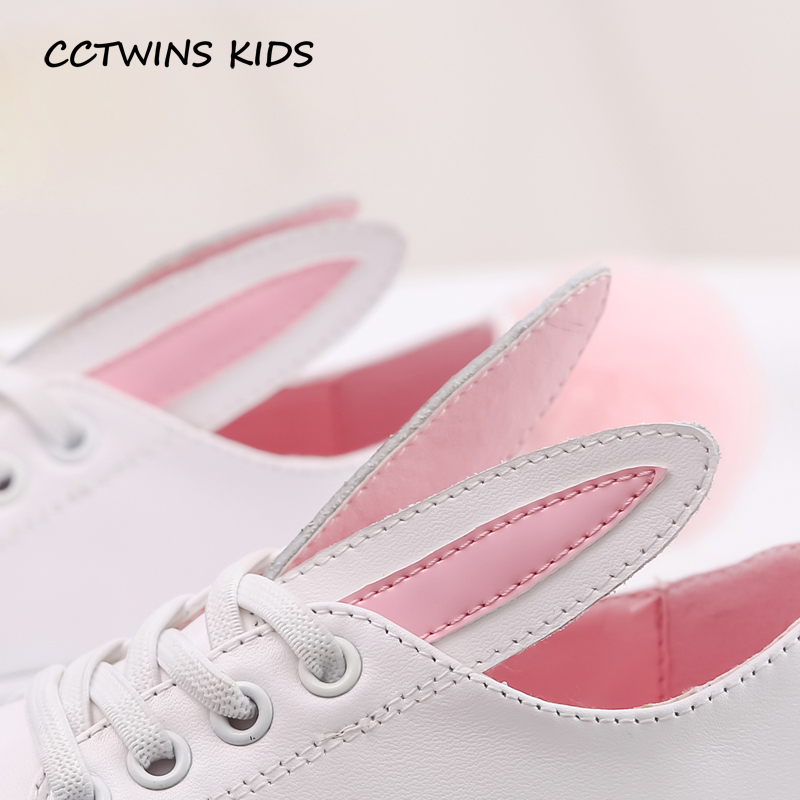 CCTWINS-KIDS-2017-Toddler-Fashion-Leather-Sport-Shoe-Children-Black-Breathable-Sneaker-Baby-Girl-White-Bunny-Flat-F1689-4