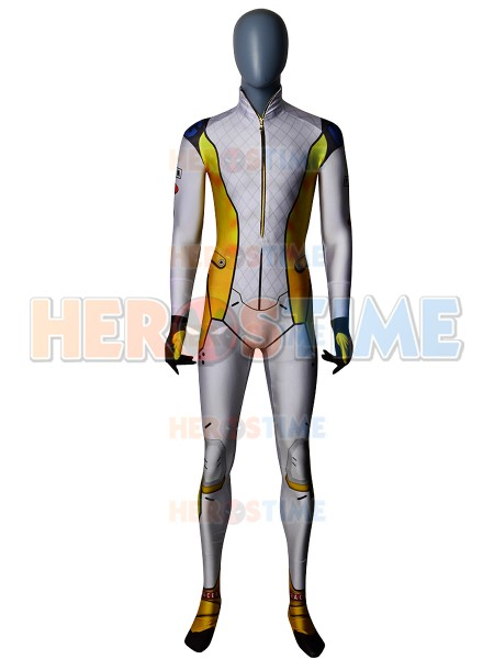 Tracer Cosplay Costume 3D Printed Lycra Spandex Mach T/T Racer Zentai Halloween T. Racer Skin Bodysuit for Adults Kids