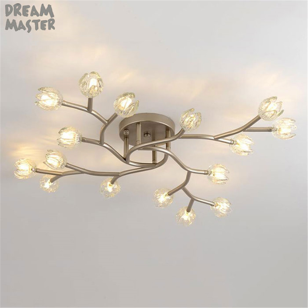 Современные светодио дный потолочный светильник с бутон цветка декора тени, промышленных светодио дный потолочный светильник фонарики для
