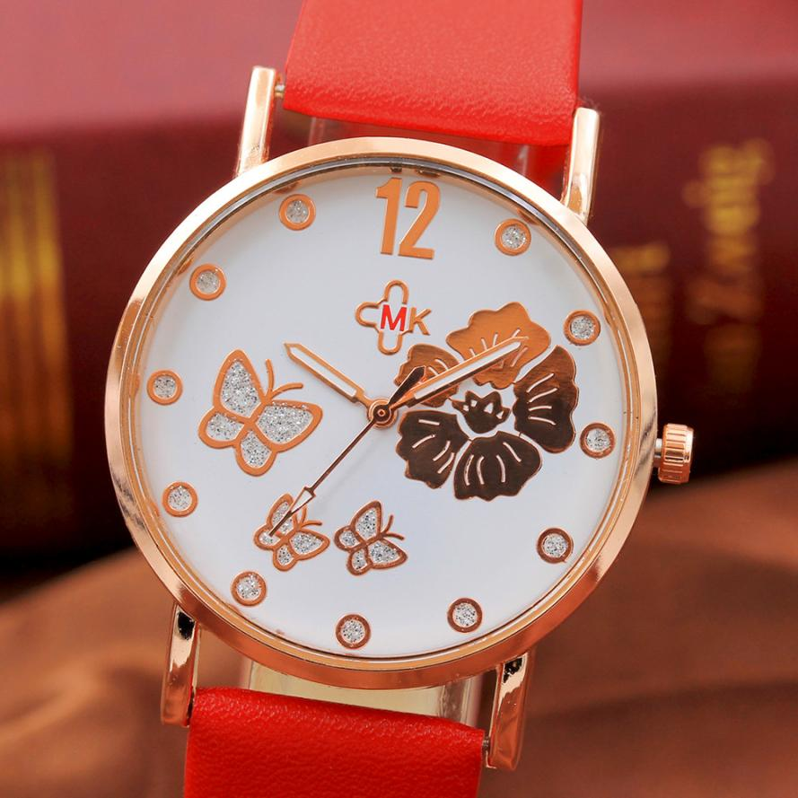 2017 New brand original leather women watches Fashion Color Strap Digital Dial Leather Band Quartz Analog Wrist Watches new fashion women retro digital dial leather band quartz analog wrist watch watches wholesale 7055