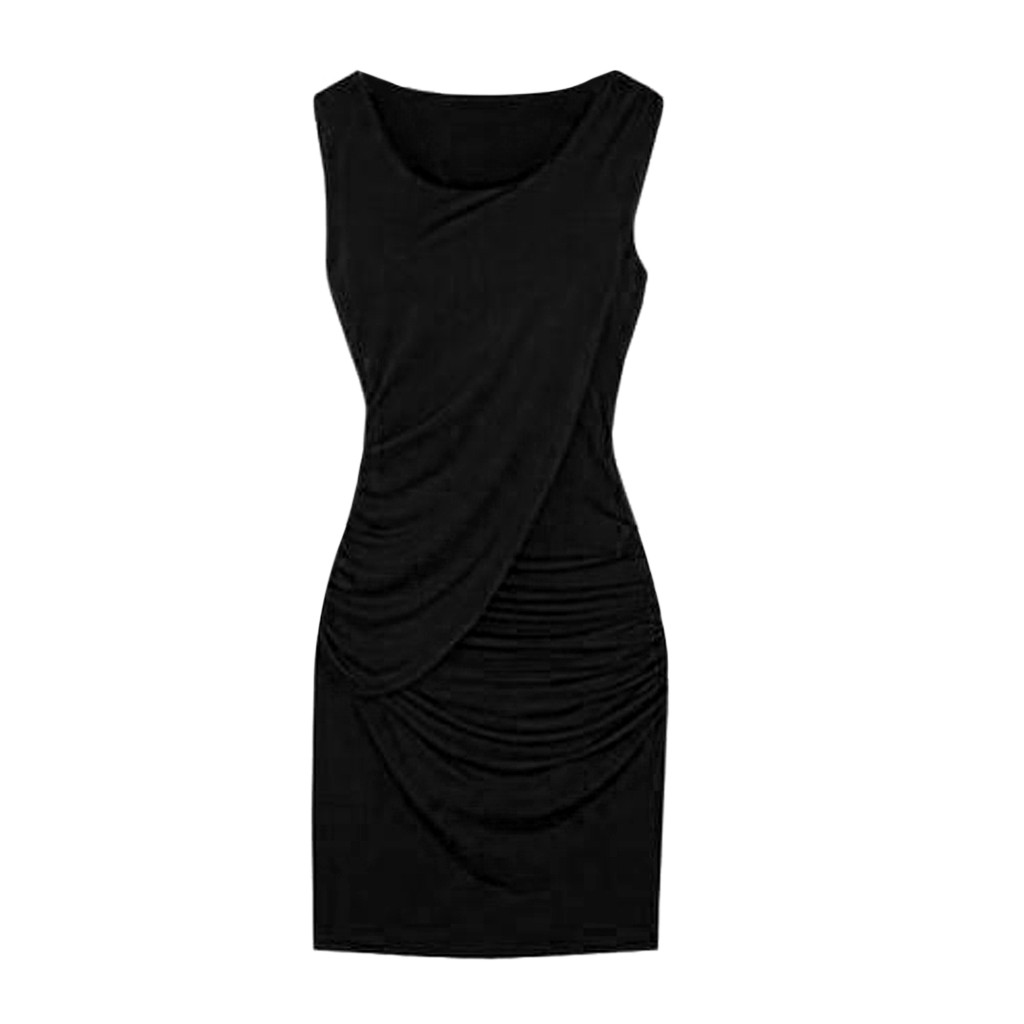 <font><b>Summer</b></font> <font><b>Black</b></font> <font><b>Sexy</b></font> Party <font><b>Dress</b></font> Women Solid Vintage Bandage <font><b>Dresses</b></font> Woman Party Night Pleated <font><b>Bodycon</b></font> <font><b>Dress</b></font> Women Clothes <font><b>2019</b></font> image