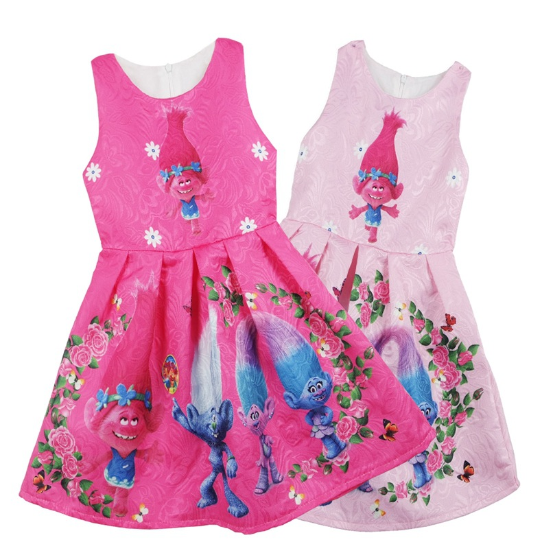 2017summer print clothing kids dresses Trolls Poppy magic fancy party cosplay costume girls princess dress clothes vestido moana vr360 panoramic camera wi fi remote control sports action camera