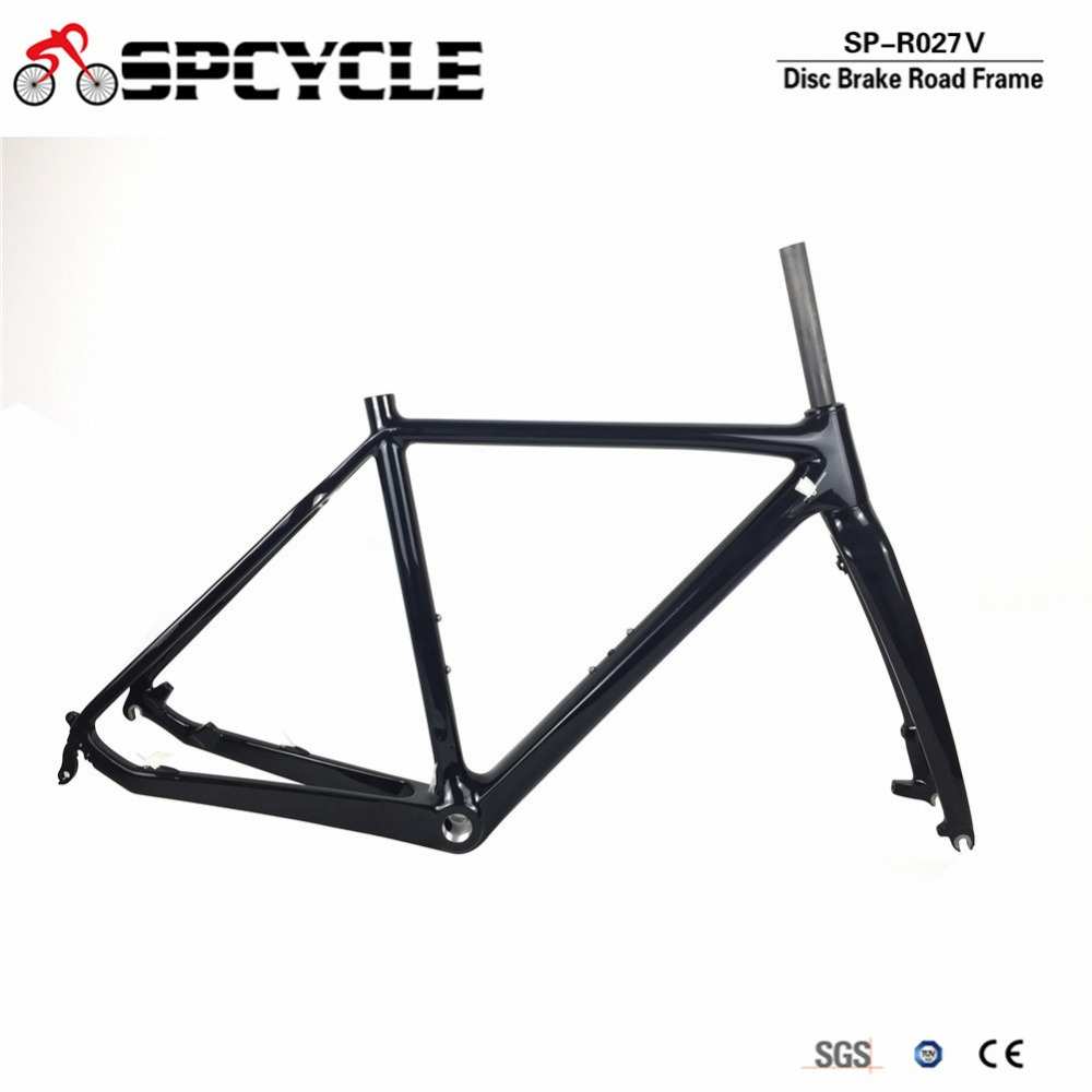 Spcycle Disc Brake Carbon Cyclocross Bike Frame 700C Carbon Road Bike Frame T1000 Carbon BSA Disc Brake Road Bicycle Frameset 2017 flat mount disc carbon road frames carbon frameset bb86 bsa frame thru axle front and rear dual purpose carbon frame