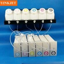 Система чернил СНПЧ с декодером чипа для hp Designjet 5000 5100 5500 широкоформатный принтер