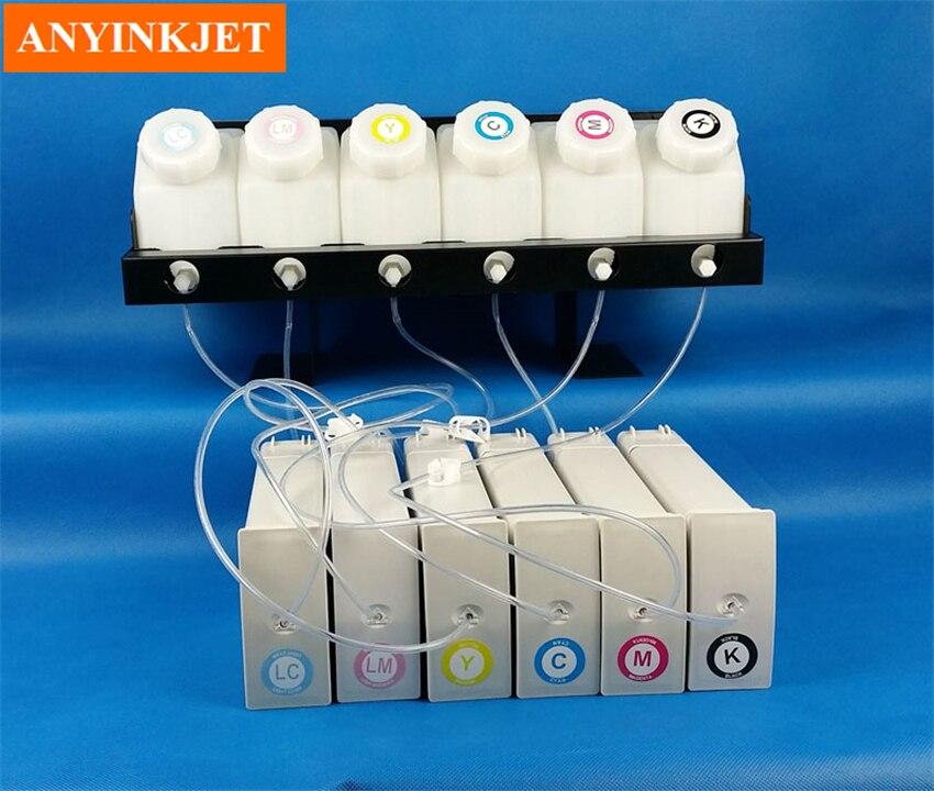 СНПЧ чернил системы с чипом декодер для hp Designjet 5000 5500 5100 широкоформатный принтер