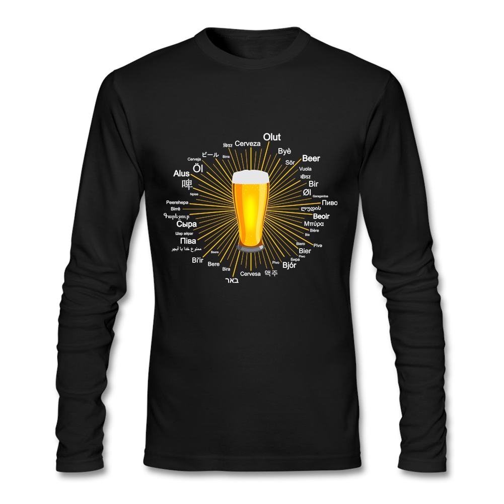 Design tshirt online free shipping - Custom T Shirts Online Quot Beer Quot In 45 Different Languages Team New Designs Long