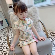 National new summer dress girls cheongsam princess Chinese style Western retro skirt