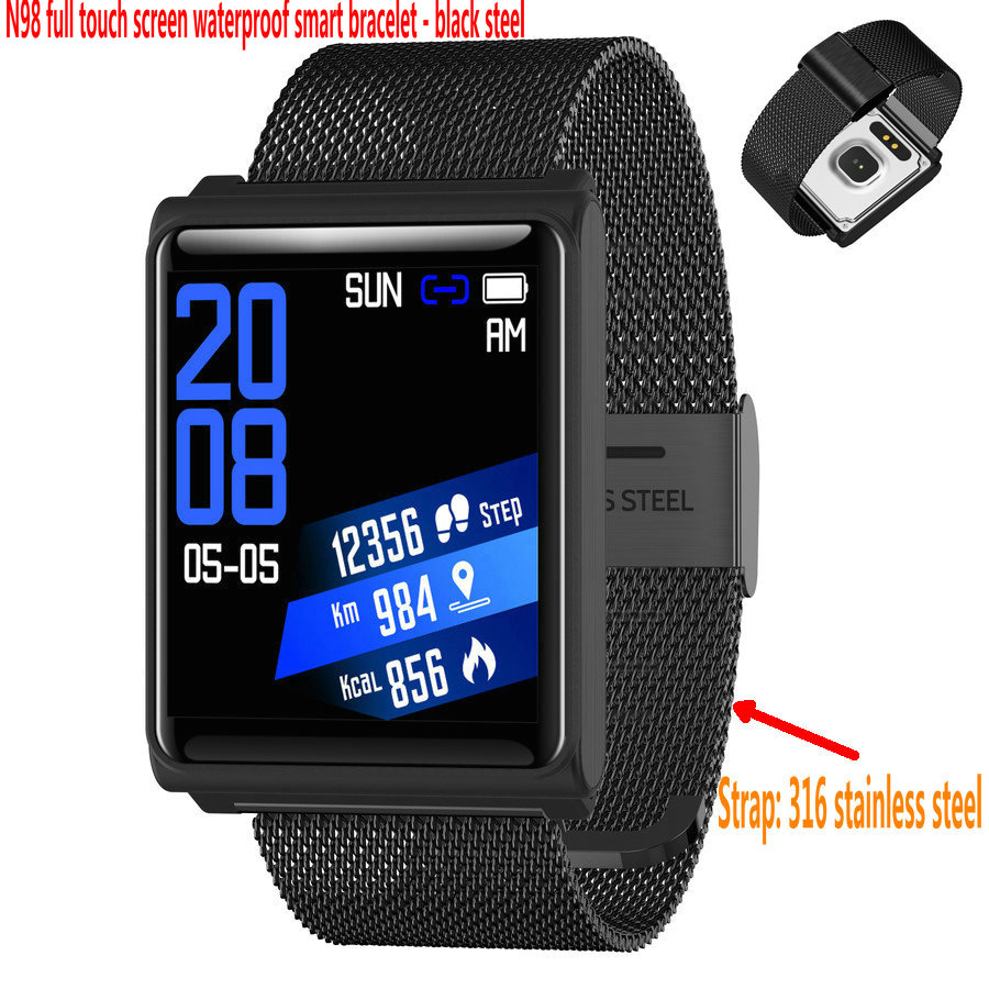 recommended N98 full touch screen smart bracelet Low power waterproof anti lost reminder multi sport smart watch in Lover 39 s Watches from Watches