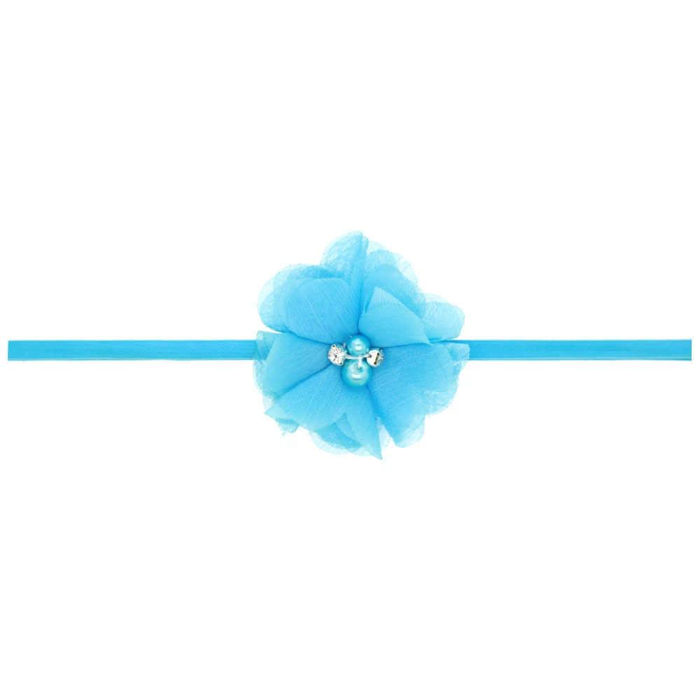 Повязка на голову для девочек Детские аксессуары для волос с цветочным рисунком банты с цветком головные уборы для новорожденных головной убор повязка для волос подарок для детей ясельного возраста повязка лента с украшением в виде кристаллов