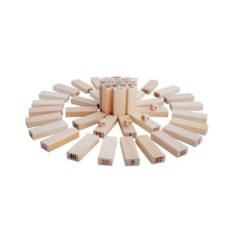 Mini Tumbling Stacking Tower Digital Wooden Puzzles Toys Building Kids Family Party Domino Board Games For Children