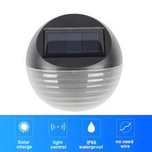 Solar light fence led outdoor garden with rechargeable Ni-MH battery poly-silicon panel waterproof luz for home jardin lighting 17 5cm battery powered rechargeable rgb led lampwick lighting for flower pot furniture to garden or home