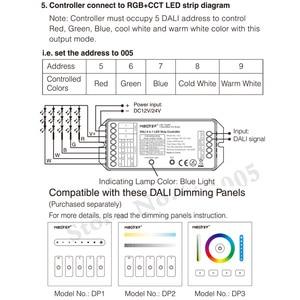 Image 5 - MiBOXER DL5 DALI 5 ב 1 LED רצועת בקר, DC 12 ~ 24V אנודה משותף חיבור, תואם שלט רחוק/DALI אוטובוס כוח Supplly